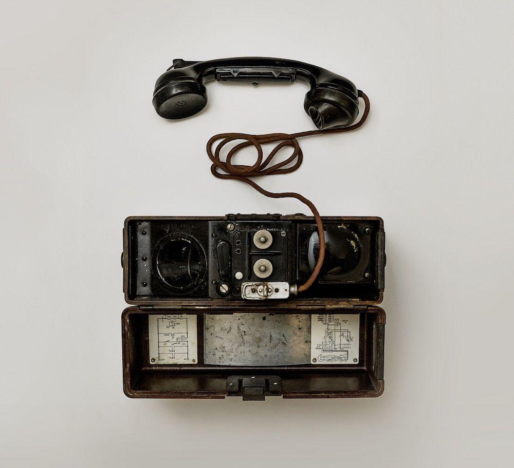 An old landline telephone